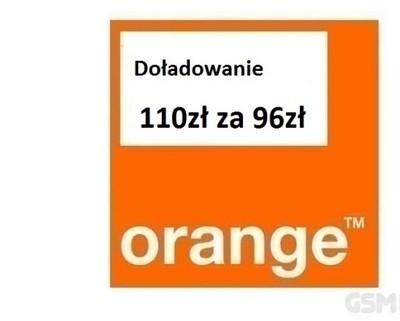 Doładowanie Orange, nju mobile 110zł kod! Tanio !!