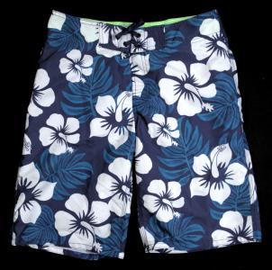 SPODENKI plażowe H&M szorty NIEBIESKIE białe S