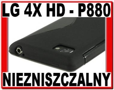 S-LINE GEL CASE BLACK DO LG 4X HD - P880 + FOLIA