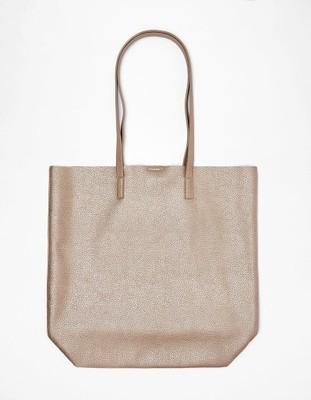 0524a7954b4df BERSHKA torebka torba shopper bag złota metaliczna - 6806915701 ...