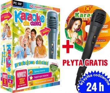 Karaoke Przebojowe Dzieciaki DVD+MIKROFON+GRATIS