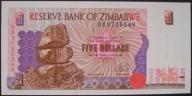 Zimbabwe - 5 dolarów - 1997 - stan UNC