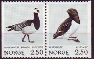 Norwegia 883-884**, 1983 r., parka, Ptaki