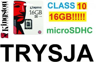 KINGSTON mSDHC 16GB CLASS10 POLECONY 4,5ZŁ WAWA