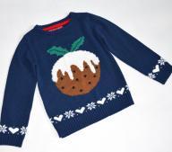 YD fajny świąteczny sweterek 7-8 lat/122-128 cm
