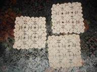 3 serwetki bawełniane beżowe