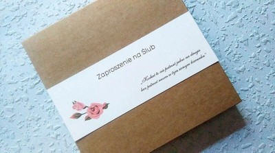 Zaproszenia ślubne W Pudełku Ekologiczne 5927780821 Oficjalne