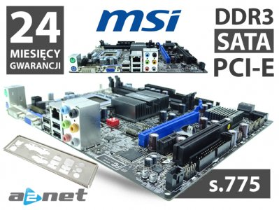 NOWA PŁYTA GŁÓWNA s.775 MSI G41M-P25 DDR3 PCI-e FV