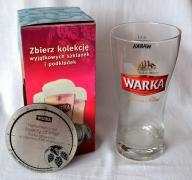 SZKLANKA W KARTONIE - PODKŁADKA - WARKA - 0,5 L.