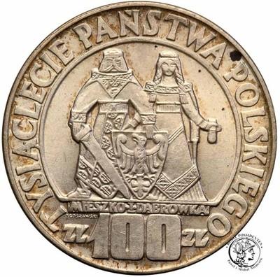 100 złotych 1966 Mieszko i Dąbrówka Millenium st1-