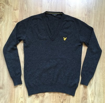 LYLE & SCOTT - 100% WOOL CASUAL V-NECK - M