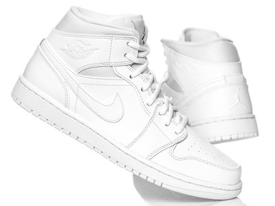 Nike buty męskie air jordan 1 mid 554724 110 2017 Zdjęcie