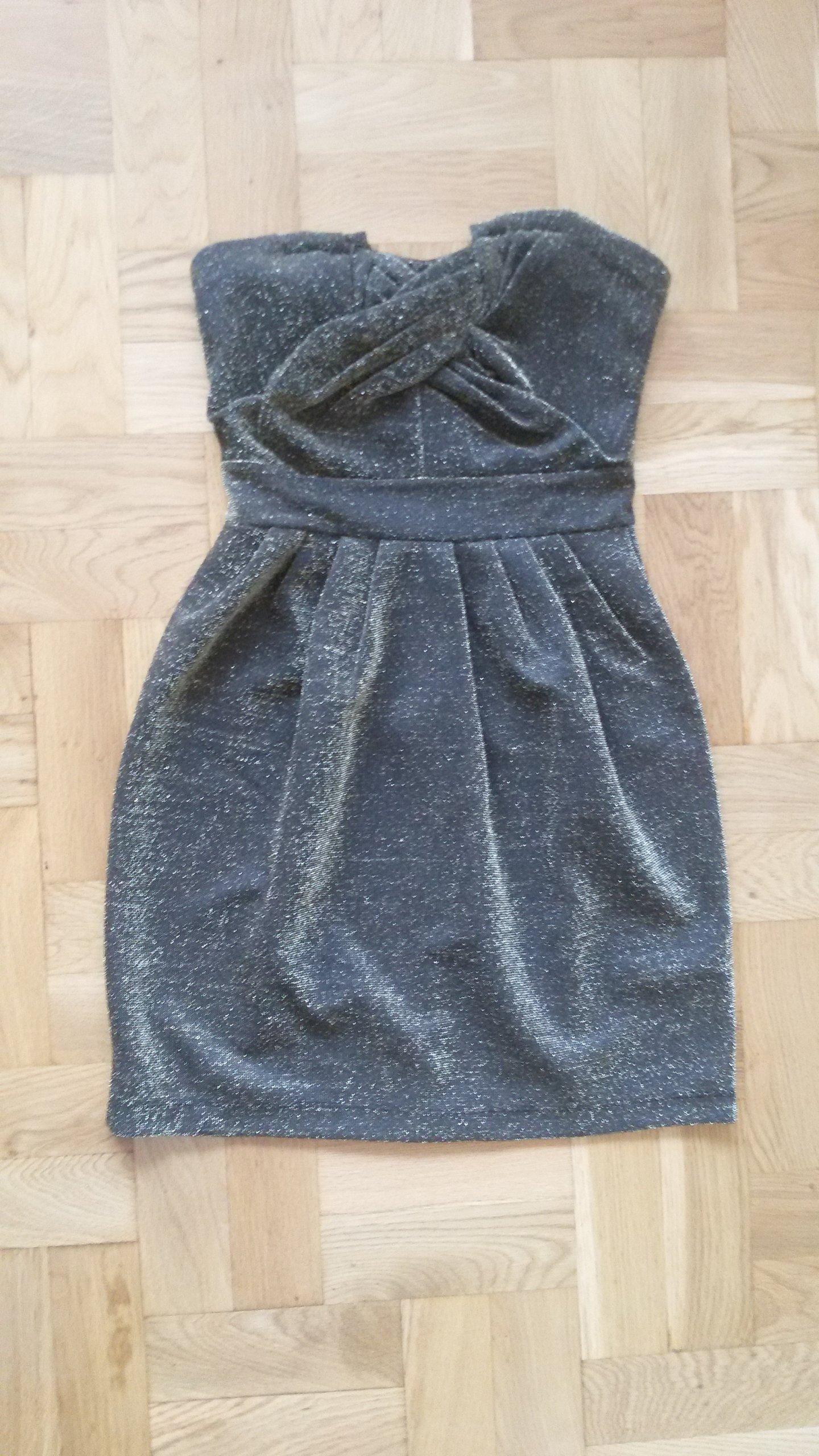 83bfaa7b92 Sukienka złota na Sylwestra H M 38 M j. nowa - 7054072648 ...