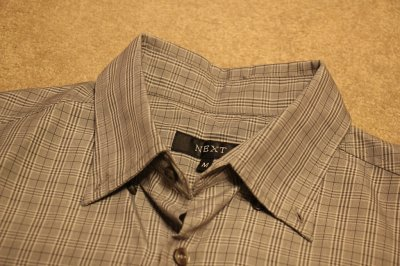 Koszula Next, krata, krótki rękaw, M, szara