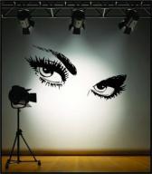 Naklejka dekoracyjna na ścianę EYES Audrey Hepburn