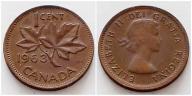 Kanada 1 cent 1963r