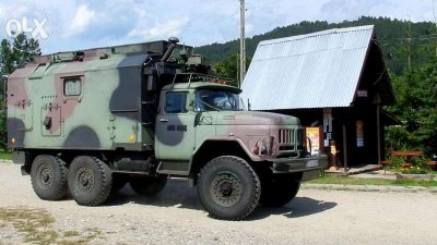 Ził 131 Ural LPG Kamper wojskowy terenowy kempingo