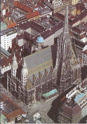 Austria WIEDEŃ katedra Św. Stefana z lotu ptaka