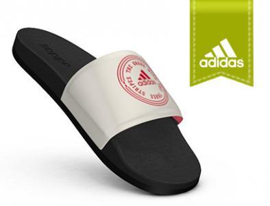 klapki adidas Adilette biale