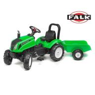 FALK Traktor Zielony LAND MASTER + Przyczepka