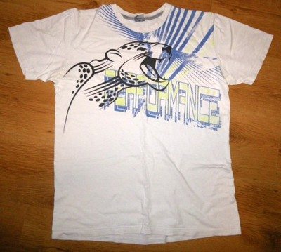 Bluzka t- shirt koszulka biała motyw - r. L