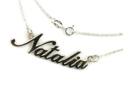 łańcuszek Celebrytka Srebrny Z Imieniem Natalia Pr
