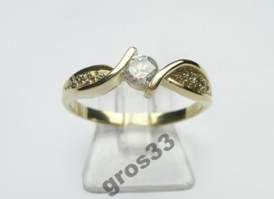 Tani Złoty Pierścionek Zaręczynowy Jubiler Korn 4369466354