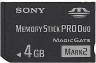 MEMORY STICK PRO DUO- SONY 4 GB