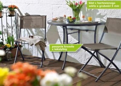 meble balkonowe składane krzesła