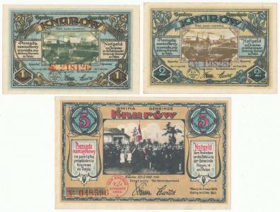 171. Knurów 1, 2, 5 mk 1922, st.1-, 1/1-