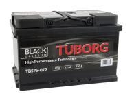 AKUMULATOR TUBORG BLACK CALCIUM 75AH 720A P+