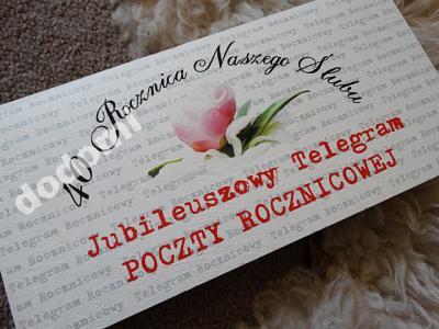 Zaproszenia Rocznica ślubu Telegram 4997099884 Oficjalne