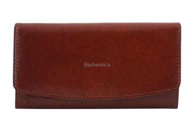 c2a21b0f0c727 Skórzane portfele damskie - Barberini s BRĄZOWY - 6880040782 ...