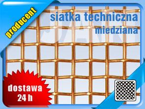 SIATKA TECHNICZNA MIEDZIANA  1,0x0,32mm (1/2m2)