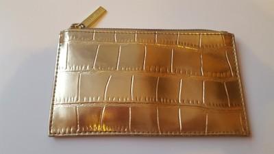 Niesamowite złota kosmetyczka portfel Estee Lauder pikowana - 6648416450 YV85