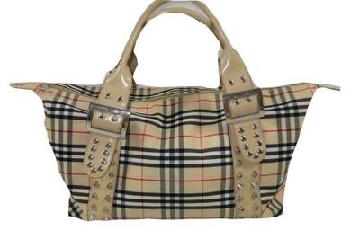 8cff2235b6b6d Elegancka beżowa duża torba /torebka w kratę - 6621949543 ...