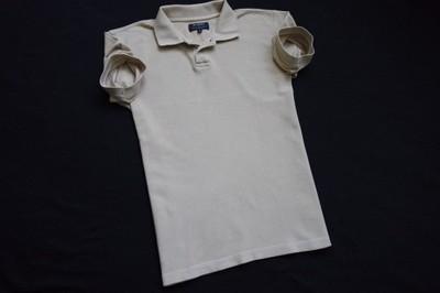 COTTONFIELD koszulka polo beżowa logowana lato_S/M