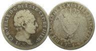 36.SARDYNIA, CAROL FELIX, 1 LIRA 1826 rzadka
