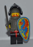 Lego Castle Figurka Rycerz 049 Black Kniight