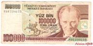 317. Turcja 100000 Lira 1970 (97-01) P-206 St 3