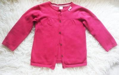 Sweterek różowy cudny BabyClub r. 86