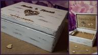 Ślubna, rustykalna skrzynia na koperty