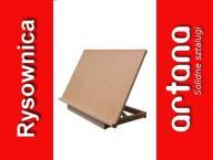 Duża bukowa rysownica 50x71 sztaluga stołowa deska