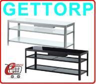 IKEA szafka stolik stół GETTORP Szkło Aluminium