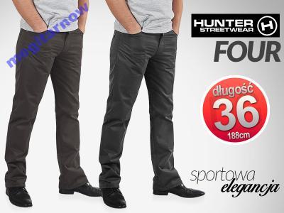 Wizytowe Eleganckie Spodnie 610/4 męskie 128 cm/36