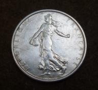 5 franków 1963 SREBRO 12g FRANCJA ! piekna ! BCM