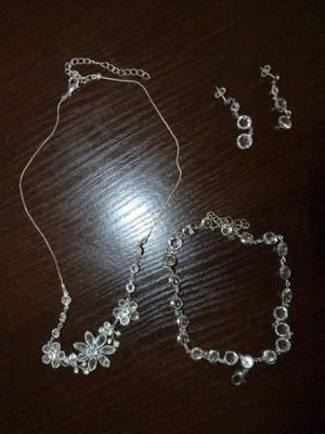 Biżuteria komplet ślubny Swarowski