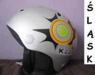 KASK NARCIARSKI snowboardow KEEN L 59-60cm srebrny