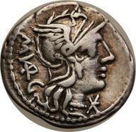 Rzym - Republika AR-denar M.Vargunteius 130 pne s3