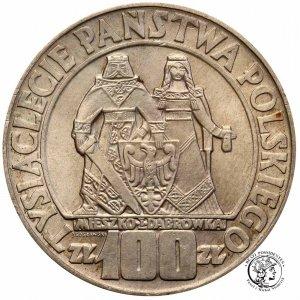 100 złotych 1966 Mieszko i Dąbrówka Millenium st2+